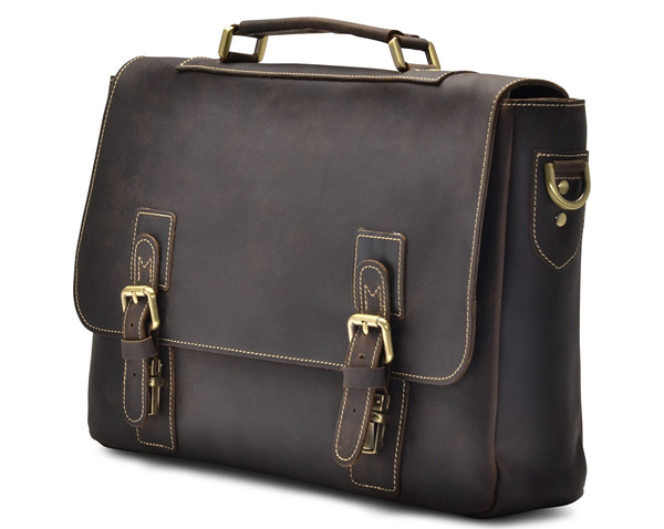 Men's Leather Satchel Briefcase